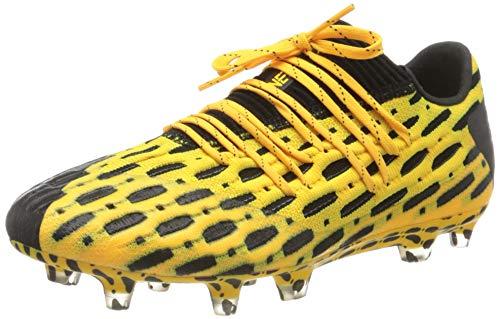 PUMA Future 5.1 Netfit Low FG/AG, Botas de fútbol para Hombre, Amarillo (Ultra Yellow Black), 41 EU