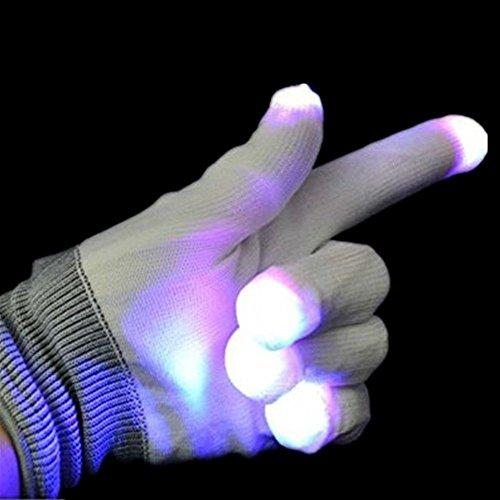 Lesypet Coloridas y 7de Modo de LED Rave Intermitentes Glow Guantes de...