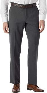Men's Modern Fit SOHO Comfort EZE Super 120's Gabardine Trouser Pants, Mid Grey, 35