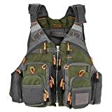 Lixada Fly Fishing Vest with Breathable Mesh for Outdoor Fishing Activities