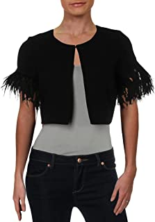 Womens Feathers Crepe Capelet