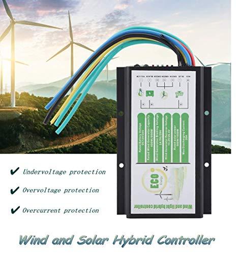 Wind Solar Hybrid Laderegler,DC 12V / 24V Wind und Solar Hybridregler 400W / 800W,20A Solarladeregler Laderegler Windladeregler Solar Controller ,MGT-Modus Lademodus Wind/Solar Hybrid Controller