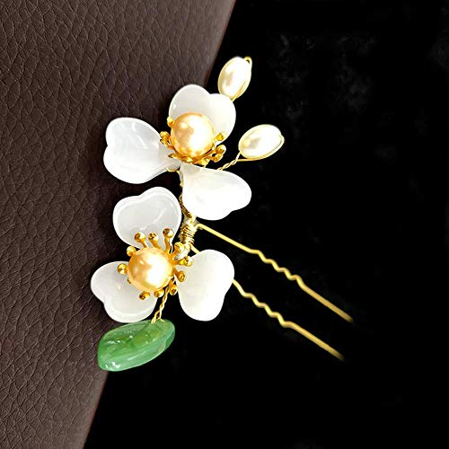 Fliyeong Vintage Wind handgemachte kleine Blumen zarte Elegante Haargabel