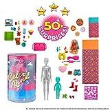 Barbie Color Reveal Mega Sorprese con Oltre 50 Sorprese, 2 Bambole, 3 Animaletti e 36 Acce...