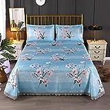 lxylllzs <span class='highlight'>Mattress</span> Summer <span class='highlight'>Bamboo</span> Sleeping,Summer mat sheets, lace three-piece ice silk mat three-piece -8_1.5m bed three-piece: size 230 * 250cm,Summer Sleeping Mat,Cooling <span class='highlight'>Mattress</span>