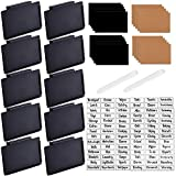 Basket Bin Labels Clip On -Includes 10 Black Clip/84 Labels and 20 DIY Labels, Black Clip Label Holders Storage and Sorting,Basket Labels Clip On for Basket, Boxes, Bin, Tables, Shelves