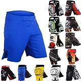 ROAR MMA Fight Shorts UFC Grappling Muay Thai BJJ Crossfit Training Jiu Jitsu No Gi Wear (Medium, Blue-Shorts)
