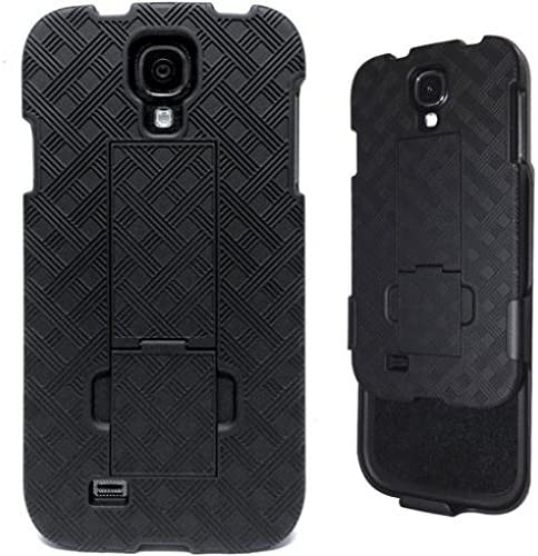 Verizon Samsung Galaxy S4 SCH I545 Case Black Combo Case Hard Shell Armor Carrying Holster Rotating product image