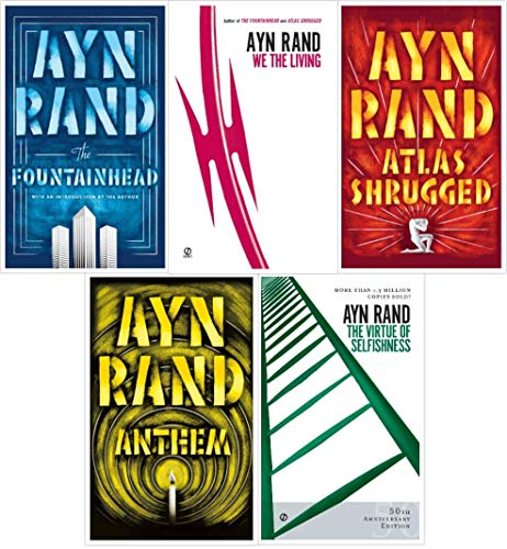 Ayn Rand Novel Collection 5 Book Set