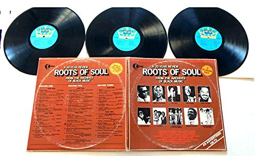 Various Artists ROOTS OF SOUL - Imperial House/K-Tel Records 1978 - USED Vinyl TRIPLE LP Record Album - 1978 Pressing - Sam Cooke - James Brown - Otis Redding - Aretha Franklin