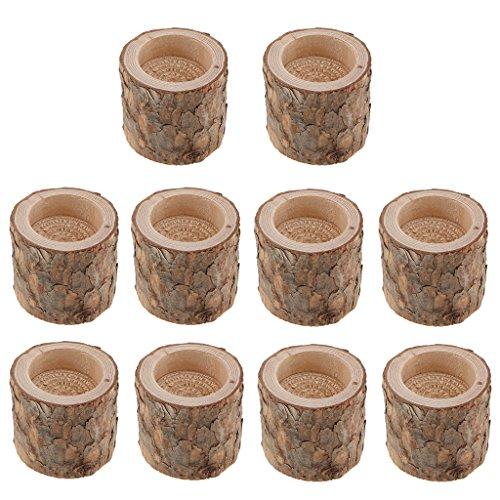 joyMerit 10x Dia.6cm Natural Tree Branch Stump Teelichthalter Teelichthalter Kerzenhalter Für Zuhause Hochzeitsdekoration