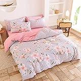 CYGJ Juego de tres piezas o cuatro piezas de algodón hipoalergénico y ropa de cama cómodaPink Peach blossom2.0m juego de cuatro piezas