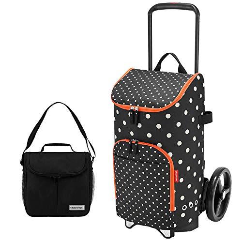 reisenthel citycruiser Rack + citycruiser Bag 45 l Einkaufstrolley Mixed dots + Mini Kühltasche