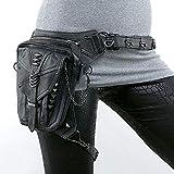 LG Snow Steampunk Borsa Femminile Nera Borsa Moto in Pelle Una Spalla Tasca del Telefono Cellulare Moto all'aperto a Cavallo Pacchetto