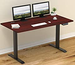 Digital Display Handset - 4 memory preset options for easy adjustment. Electric Lift System - Fully motorized lift from 28 to 45 Inches height Telescopic Height Adjustment - The strong legs use telescopic adjustment transitioning from sitting to stan...