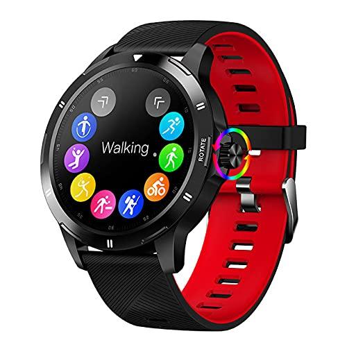 ZGZYL Reloj Inteligente Deportivo para Hombres con Monitor De Frecuencia Cardíaca/Presión Arterial / SPO2 Monitor/Sleep Tracker/Bluetooth Smart Watch iOS Android Fitness Tracker,C