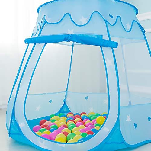 キッズテントお城ボールハウス折りたたみ式室内遊具子供幼児ベビー用室外ボールプールテントブルー