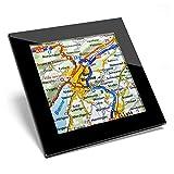 Posavasos de cristal Awesome – Biel Bienne Suiza ciudad mapa de viaje de calidad brillante posavasos / protección de mesa para cualquier tipo de mesa #44278