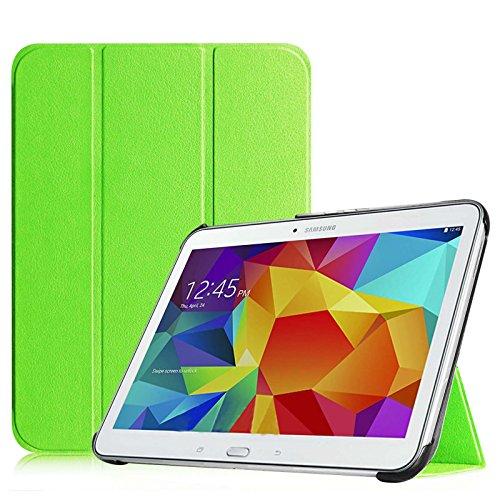 Fintie, hoes voor Samsung Galaxy Tab 4 10.1 SM-T530 SM-T535 - ultraslank, superlicht, standaard, slimshell cover, beschermhoes, etui, tas, met automatische slaap-waakfunctie, Galaxy Tab 4 10.1 groen