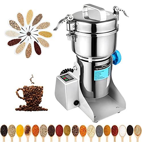 Pulverizer Grinding Machine Stainless Steel 110V Electric Mill Grinder for Kitchen Herb Spice Pepper Coffee Powder Grinder (350g)