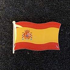 Pin Bandera de España con Escudo - Maxima Calidad. Especial Ropa ...