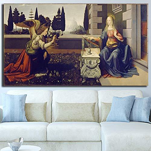Vintage Ölgemälde Poster und Gravur Bild Wohnzimmer Kunst Wanddekoration,Rahmenlose Malerei,45x90cm