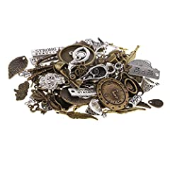 P Prettyia 100 Gram DIY Assorted Color Antique Metal Steampunk Charms Pendant for Crafting, Cosplay Decoration,Jewelry Making Accessories #4
