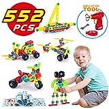 TINOTEEN Bausteine Spielzeug für 5, 6, 7, 8, 9 Jahre und älter Kinder, Gebäude Lernen Pädagogische Bausteine, 552 Stücke Geschenk