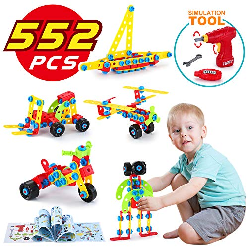 TINOTEEN Building Blocks Toys for 5, 6, 7, 8 Year and Older Kids, Learning Educational Construction Set for Boys and Girls, 552 Pieces Gifts