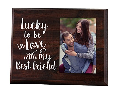 Elegant Signs Lucky to Be in Love Picture Frame