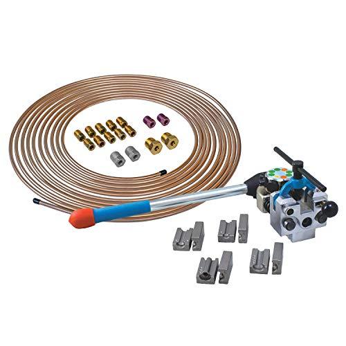 "4LIFETIMELINES Turret Brake Line Flaring Tool & 3/16"" Copper Nickel Brake Line Kit"