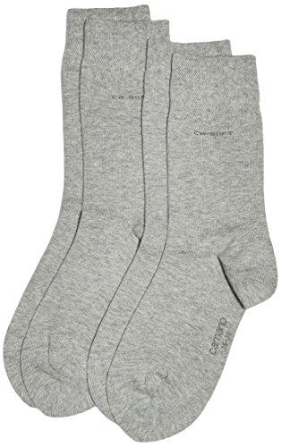 Camano Unisex-Erwachsene 3642 Socken, 100 DEN, Grau Grey 10, (Herstellergröße: 39/42) (2er Pack)