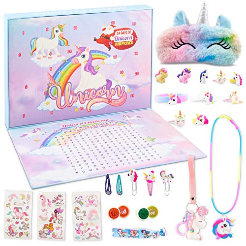 HAPIDS Calendario de Adviento de Unicornio 2020 Unicornio para Las niñas en Esta Temporada de Navidad.