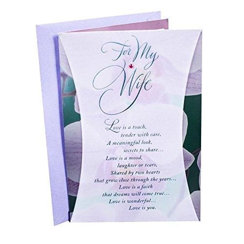 Hallmark Birthday Card for Wife (Orchids)