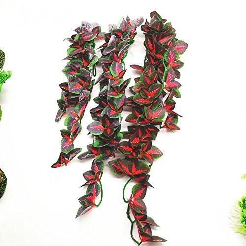 LC-Home Decor Künstliche Rankenpflanze für Aquarien, 40 cm, Grün, grün, 40 cm