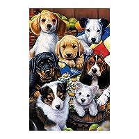 かわいい犬5Dダイヤモンド塗装DIY刺繍クロスステッチ家の壁の装飾工芸品DIYアートクラフト用品 動物 全面貼り付けタイプ 手芸 クリスマス プレゼント 30*40CM