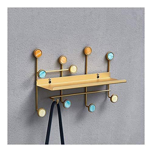 OH Coat Rack Coat Rack Wall Mounted Coat Iron Art Wall Storage Shees with Hooks for Bedroom Living Room Bathroom Office Coat Stand Bedroom / 4 Hook