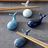 RAYNAG Essstäbchenhalter, Delfin-Form, Keramik, für Gabel/Löffel, für Küche, Esstisch, Dekoration, 4 Stück