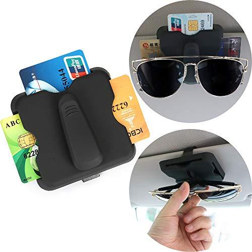 OurLeeme Auto Visor Organizer Brille Kartenschlitzen Universal Clip für die Personalausweis, Kreditkarte Visitenkarte Parkausweis