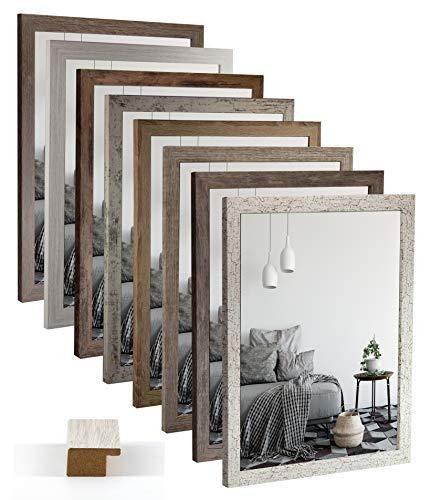myposterframe Vintage Holztöne Bilderrahmen Juno 67 x 90 cm MDF Größenwahl 90 x 67 cm Holzfarben Hier: Pinie gekälkt mit Kunstglas klar 1 mm