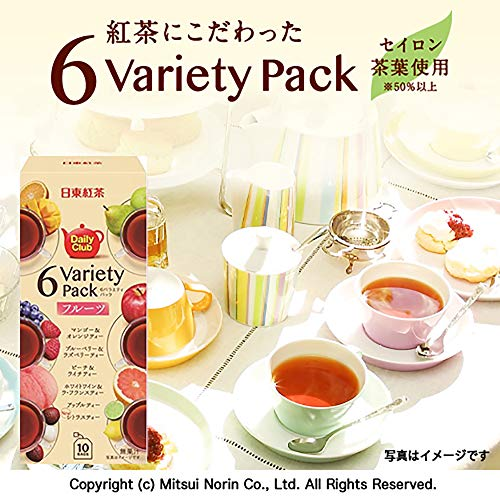 日東紅茶デイリークラブ6バラエティーパック10袋入り×6個