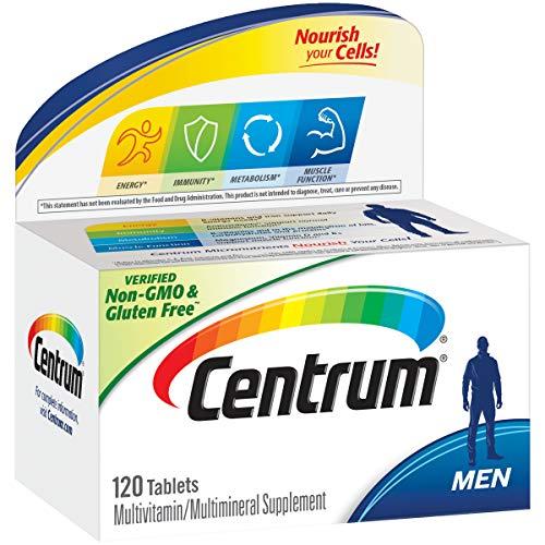 Centrum Men 120 Count Multivitamin / Multimineral Supplement Tablet Vitamin D3