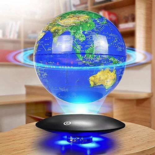 Brightz La levitación magnética Globo 8' Plataforma de levitación magnética Globo Flotante Anti-Gravedad Rotación de Mapa del Mundo Globo Azul Y Negro LED de Ajuste de la decoración del hogar