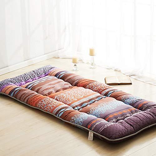 ASDFGH Traditionnel Japonais Quilting Les Matelas futons, Épaissir Matelas de Tatami Folding Topper Matelas, Quatre Saisons Disponibles Surmatelas-C Double