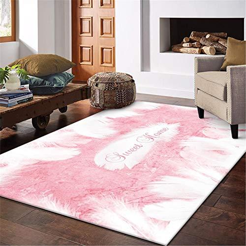 MMHJS Textiles para El Hogar/Alfombras Rectangulares De Plumas/Alfombras para Dormitorio Y Sala De Estar/Agradable A La Piel/Slip-Slip 60x90cm