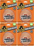 Gorilla Tough & Clear Double Sided XL Mounting Tape, 1' x 150', Clear, (4 Pack of 1)