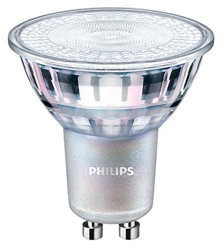 Philips GU10 LED-lamp 4,9 Watt 60 graden spot dimbaar glazen lichaam warm wit 930 Ra90