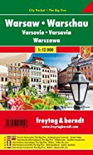 Varsovia 1:12.000 plano callejero plastificado. Freytag & Berndt.: Stadskaart 1:15 000 (Small city map)