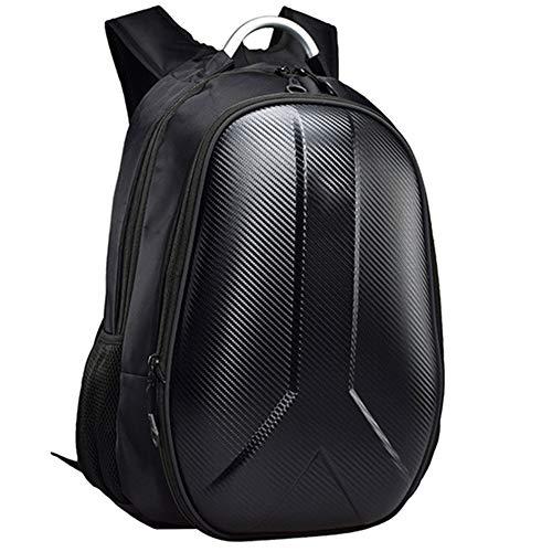 GYXZZ Motorcycle Backpack Black, Motorbike Helmet Bag, Helmet Strap, Waterproof, Laptop Rucksack, Reflective