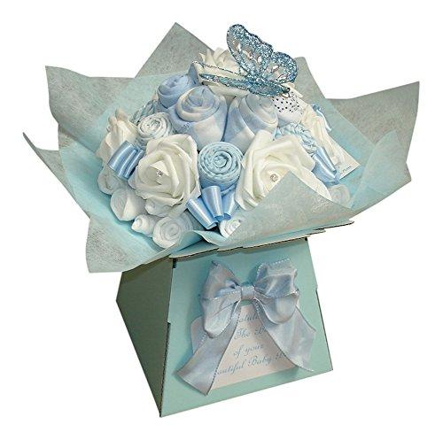 Regalo personalizado para recién nacido, diseño de ramo con ropa de bebé, ideal como regalo y baby shower Talla:3-6 meses